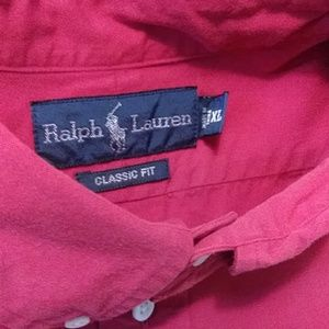 Ralph Lauren Polo (xl) red classic fit button down